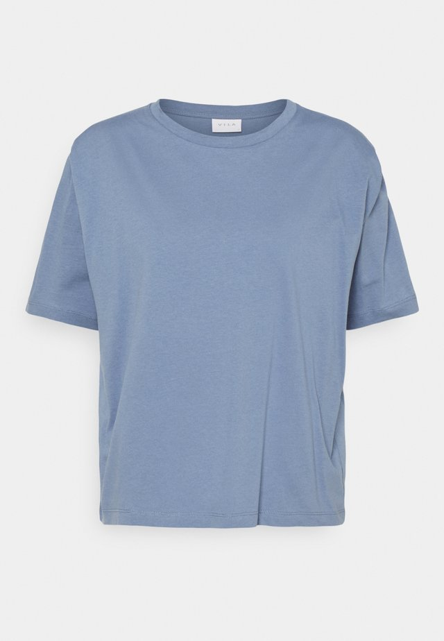 VISHOULDE - T-shirt basic - colony blue