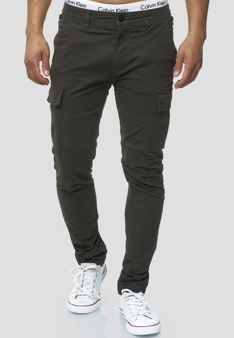 INDICODE JEANS - Cargo trousers - anthracite