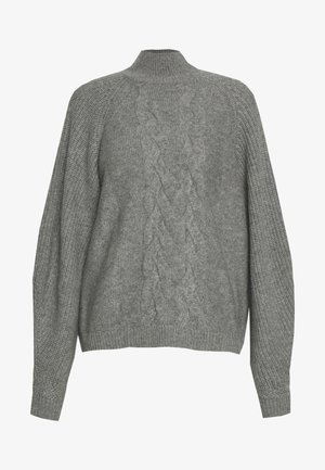 CHARLOTTE LUXURY CHUNKY CABLE - Sweter - light grey