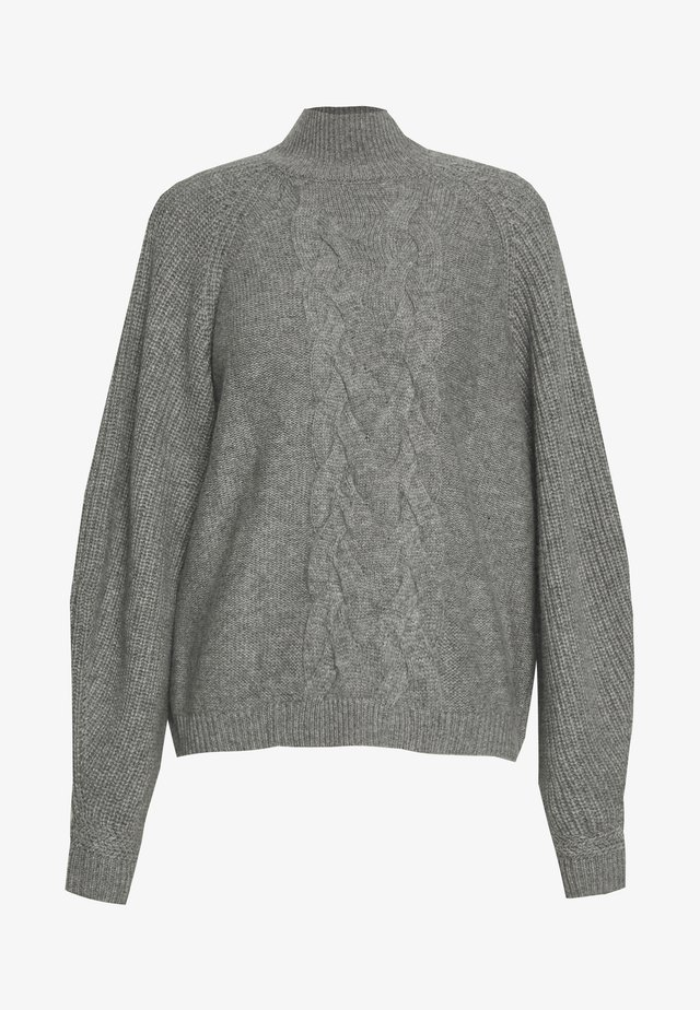 CHARLOTTE LUXURY CHUNKY CABLE - Trui - light grey
