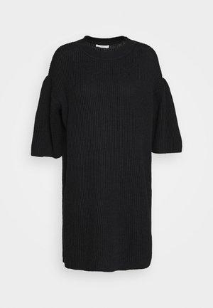 Pletené šaty - obsidian black