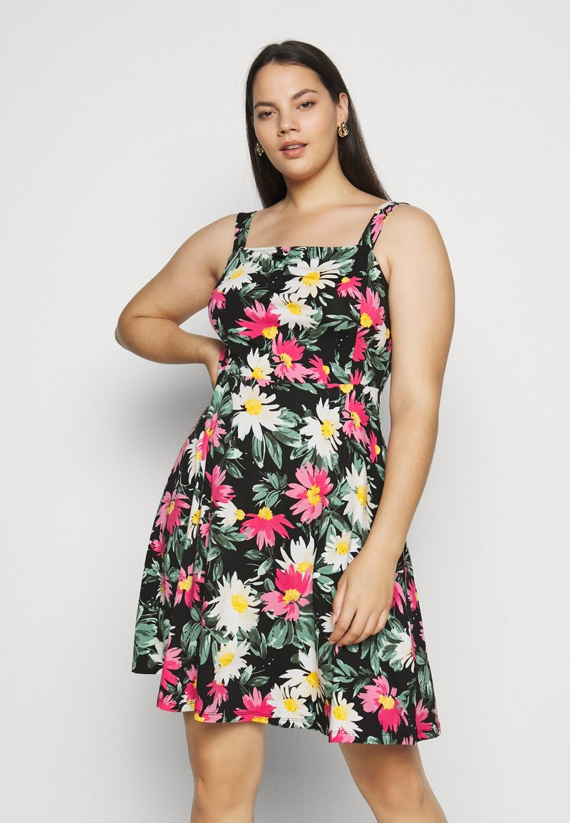 Dorothy Perkins Curve - STRAPPY FLORAL DRESS - Day dress - multi-coloured