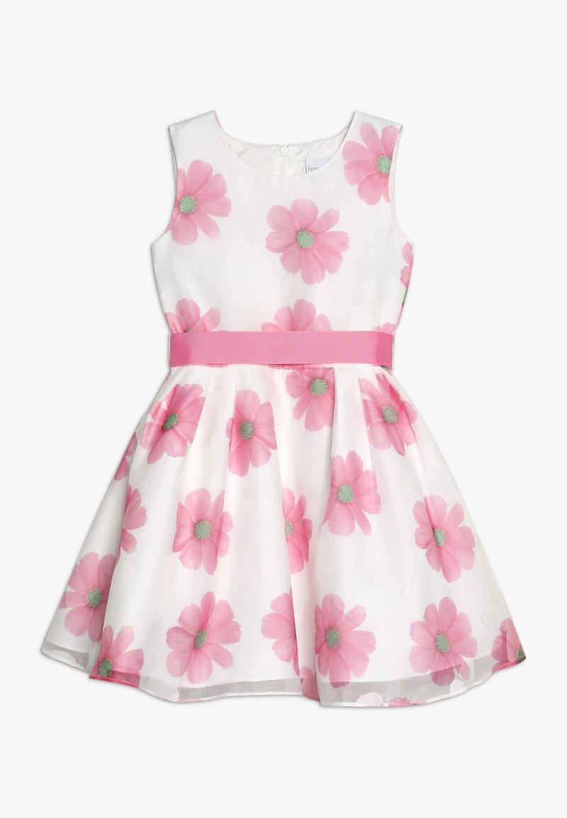 happy girls - Vestido de cóctel - weiß/ pink