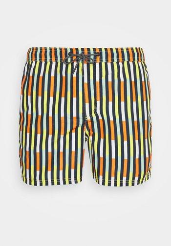 JJIBALI STRIPE - Swimming shorts - vibrant yellow