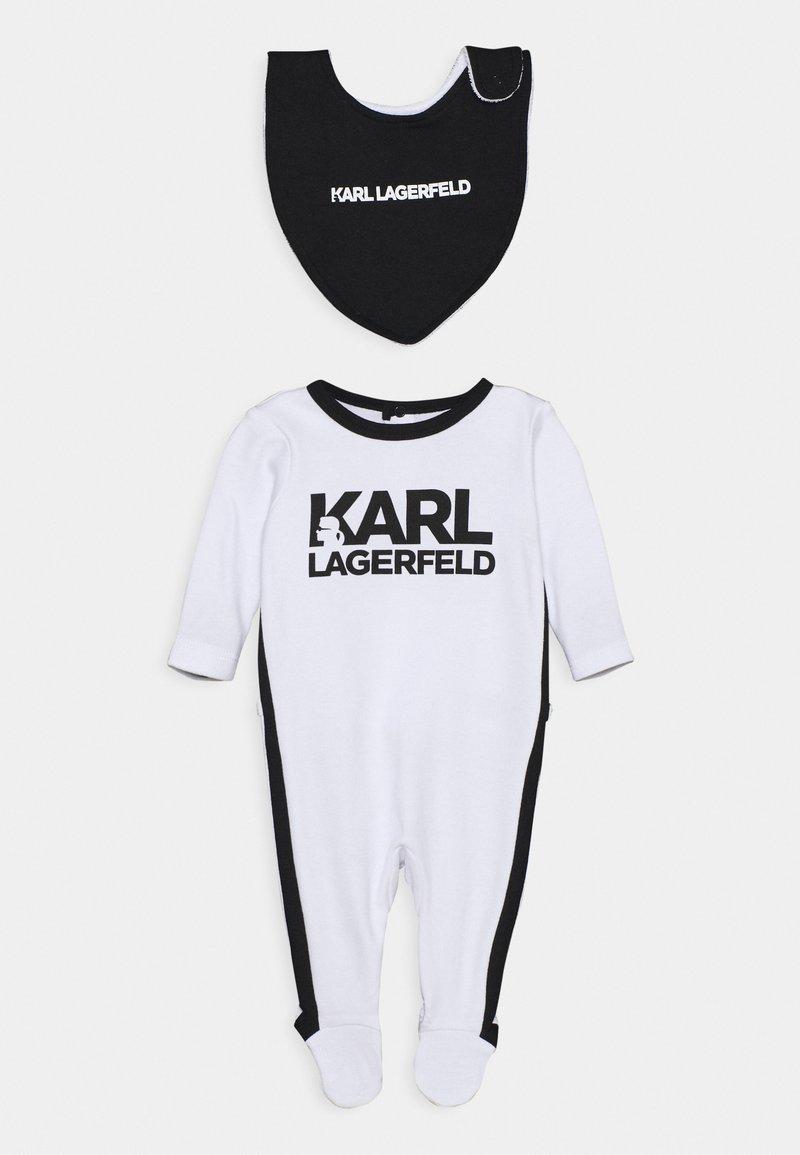 KARL LAGERFELD KIDS - BIB BABY UNISEX - Grenouillère - white/black