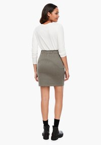 Q/S designed by - MET RIEM - Pencil skirt - dusty brown check - 2