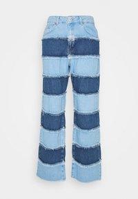 The Ragged Priest - STRIPE PANEL DAD  - Jeans straight leg - blue - 4