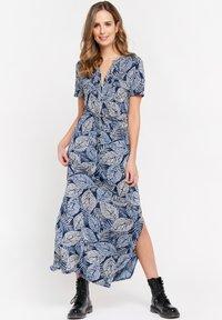 LolaLiza - WITH BOTANICAL PRINT - Maxi dress - navy blue - 1