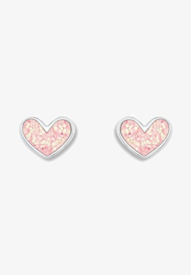 HERZEN - Earrings - rosa