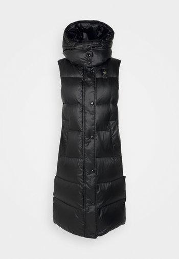 LONG VEST - Waistcoat - black