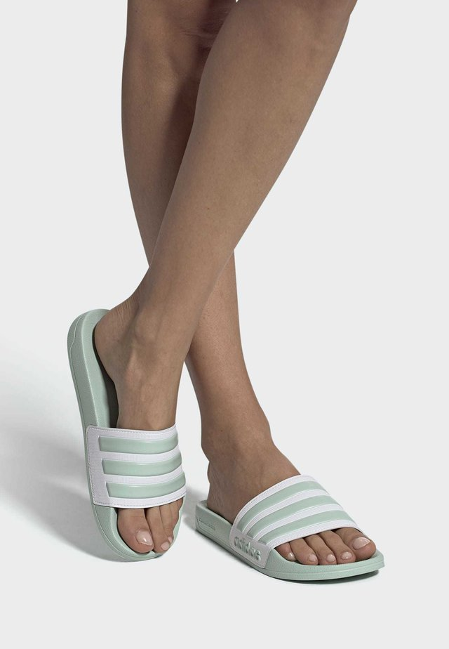 ADILETTE SHOWER SLIDES - Pool slides - green tint
