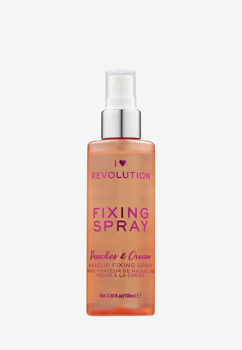 I Heart Revolution - I HEART REVOLUTION PEACHES & CREAM FIXING SPRAY - Setting spray & powder - clear
