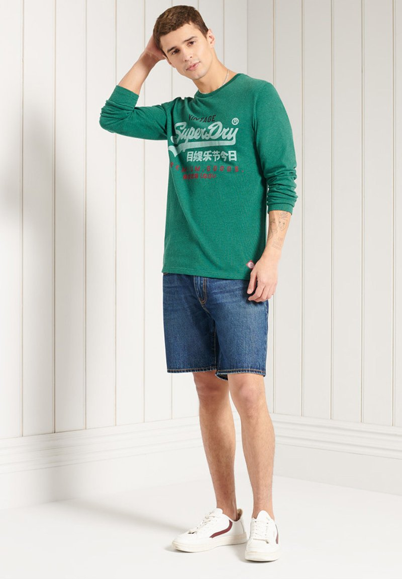 Superdry - Long sleeved top - forest green marl