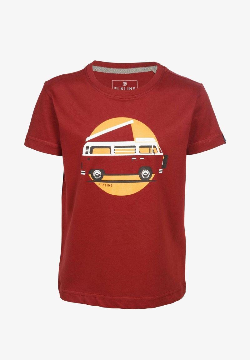 Elkline - Print T-shirt - syrahred