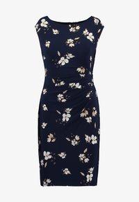 Lauren Ralph Lauren Petite - NOVELLINA CAP SLEEVE DAY DRESS - Fodralklänning - navy/taupe/multi - 4