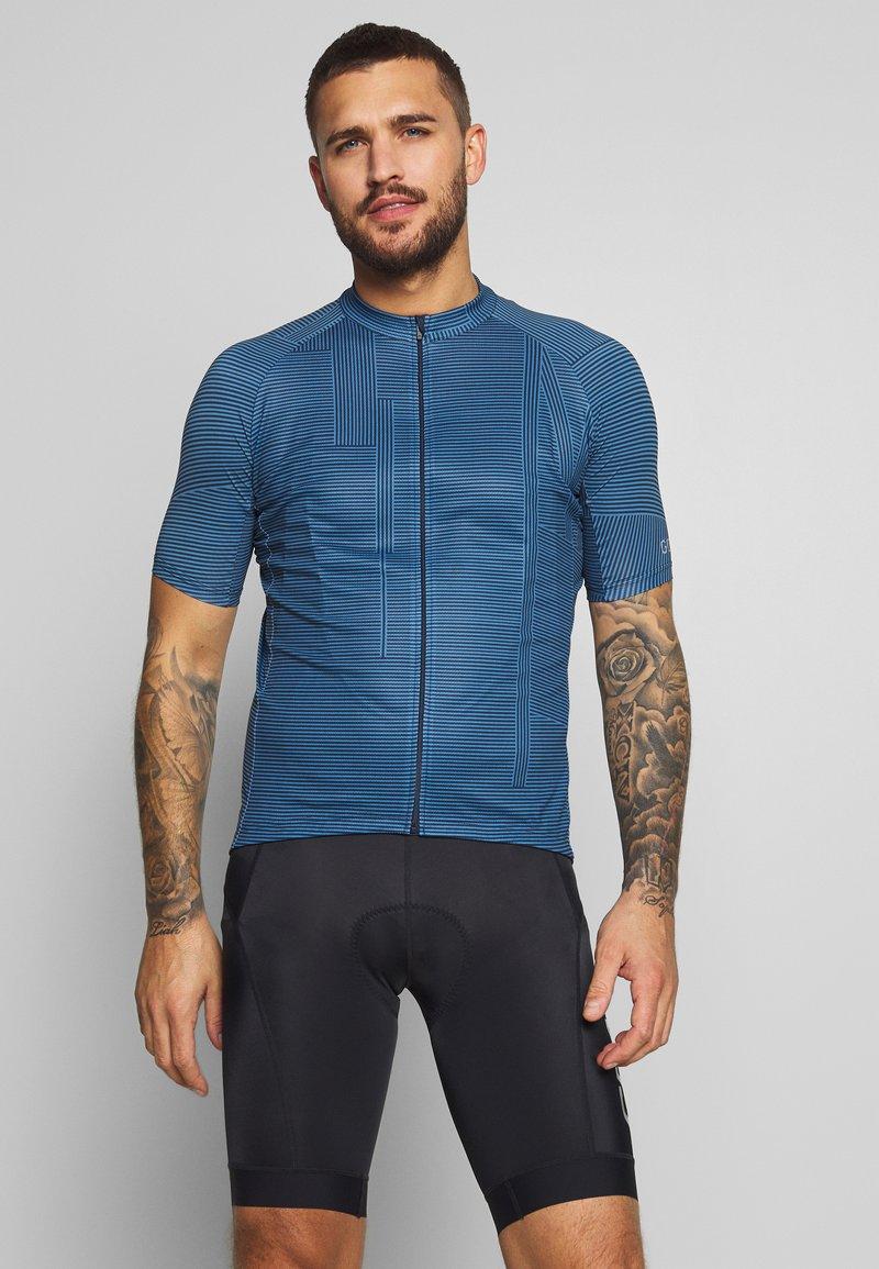 Gore Wear - LINE BRAND TRIKOT - T-shirt z nadrukiem - deep water blue/orbit blue