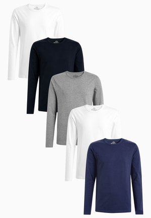 MIXED LONG SLEEVE T-SHIRTS FIVE PACK - Bluzka z długim rękawem - white
