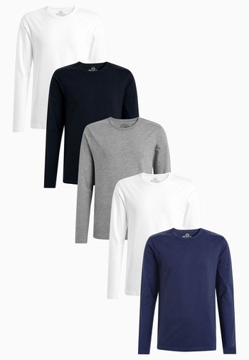 MIXED LONG SLEEVE T-SHIRTS FIVE PACK