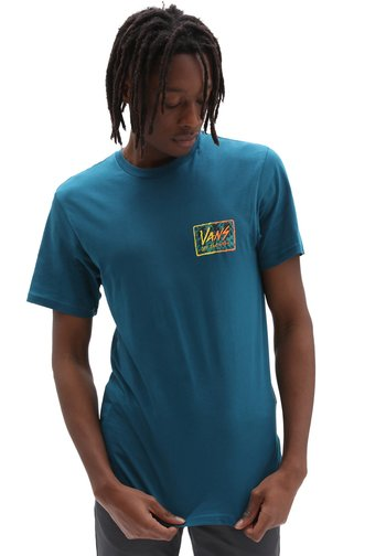 MN SKETCHED PALMS SS - Print T-shirt - blue coral