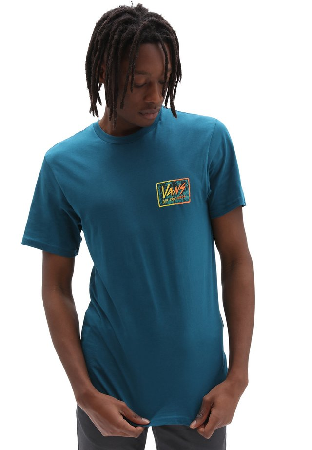 MN SKETCHED PALMS SS - T-shirt con stampa - blue coral