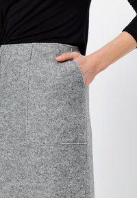 zero - MIT WOLLE - A-line skirt - silver grey-m - 3