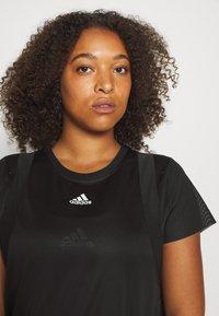 adidas Performance - TEE  - Basic T-shirt - black - 3