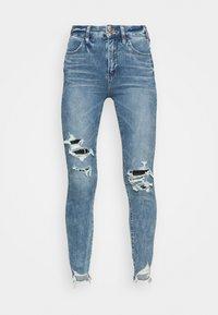 American Eagle - HIGHEST RISE CROP DREAM - Jeans Skinny Fit - blue street - 4