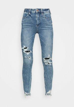 HIGHEST RISE CROP DREAM - Jeans Skinny Fit - blue street