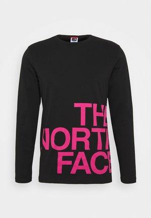 GRAPHIC FLOW - Bluzka z długim rękawem - black/pink