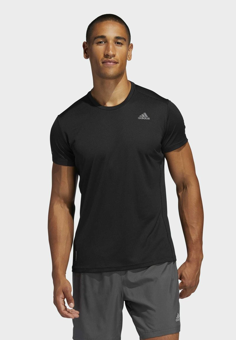 adidas Performance - RESPONSE AEROREADY RUNNING SHORT SLEEVE TEE - T-shirt imprimé - black