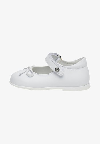 NATURINO BALLET - Ankle strap ballet pumps - white