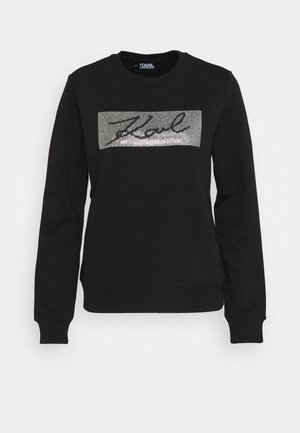 RHINESTONE SIGNATURE - Sweatshirt - black