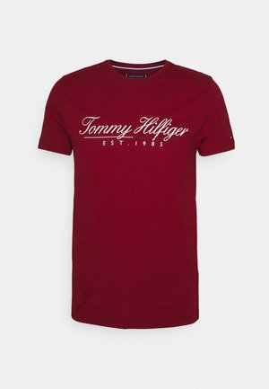 SCRIPT LOGO TEE UNISEX - Print T-shirt - regatta red