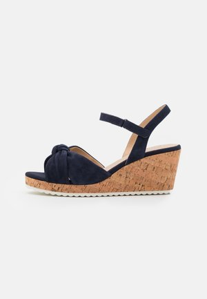 Sandały na platformie - ocean