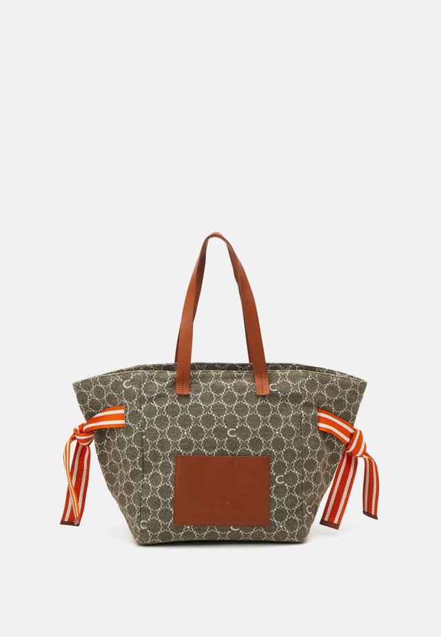 LOGO SHOPPER WIDE - Tote bag - beige