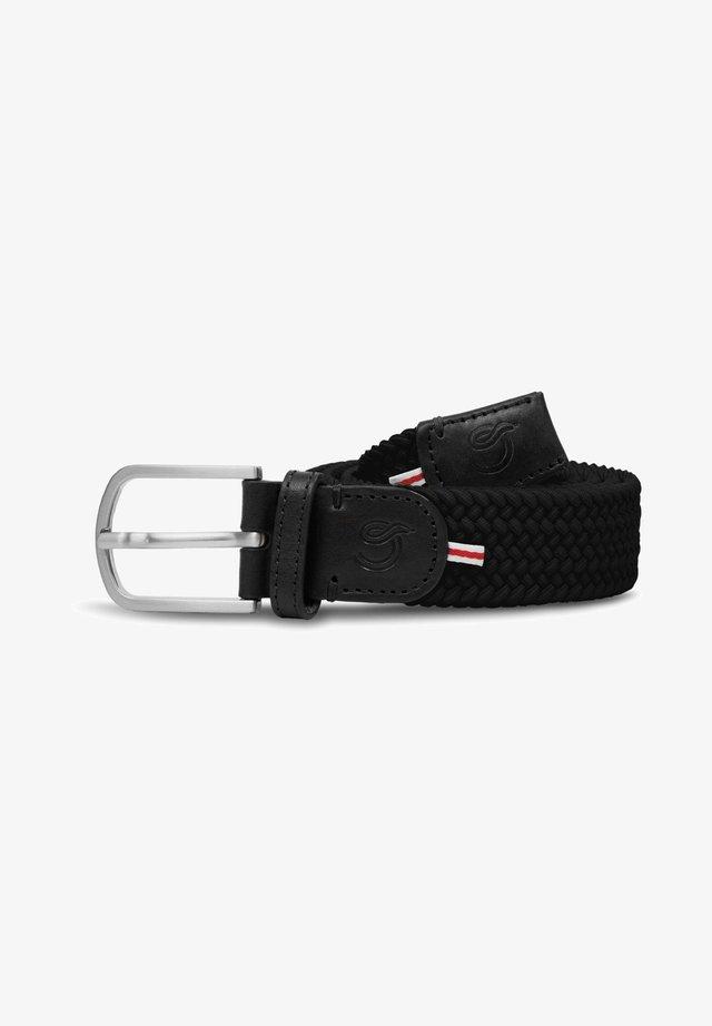 LONDON - Braided belt - black