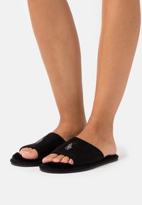 Polo Ralph Lauren - ANTERO - Slippers - black/cream - 0