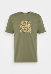WAWWA - JUNGLE LOGO UNISEX - Print T-shirt - khaki green - 4