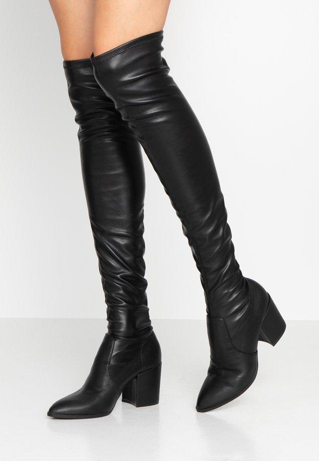 JANEY - Stivali sopra il ginocchio - black paris
