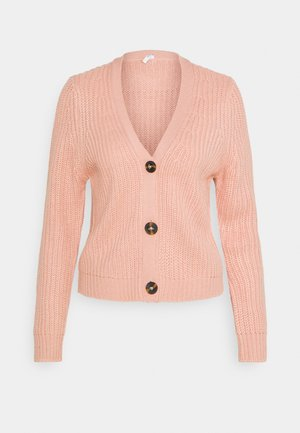 ONLLEXI BUTTON CARDIGAN - Cardigan - misty rose