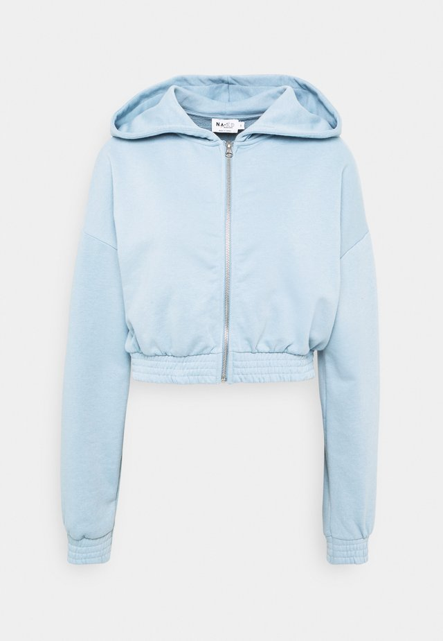 ZIP DETAIL HOODIE - Mikina na zip - dusty blue