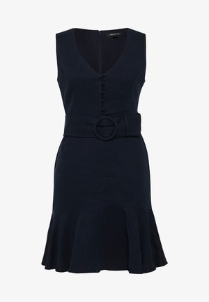 BELTED FLIPPY HEM DRESS - Day dress - navy