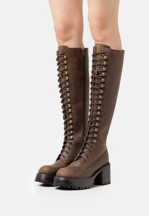 LOCUST - Lace-up boots - brown