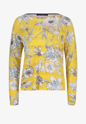 MIT BLUMENPRINT - Jumper - yellow/blue