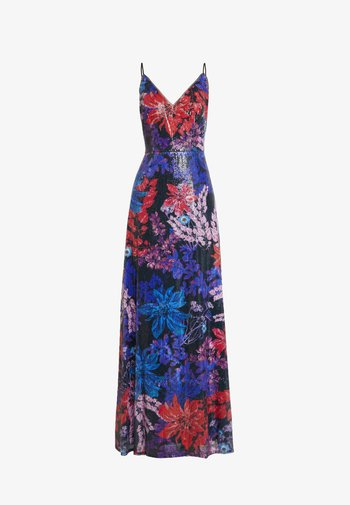 PRINT SEQUIN DRESS