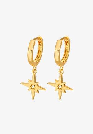 STARBURST CHARM HUGGIE HOOPS - Boucles d'oreilles - gold-coloured