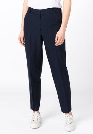 MIT LEINEN & TENCEL - Trousers - indigo