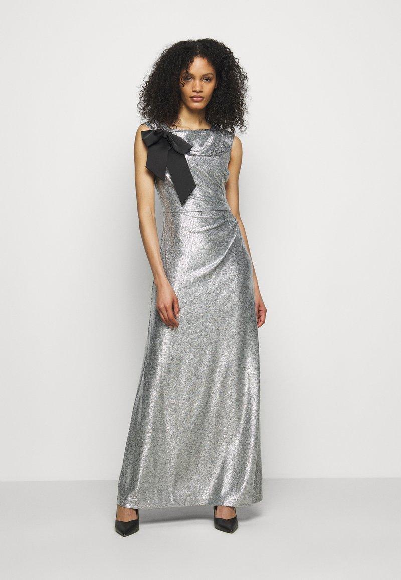 Lauren Ralph Lauren - LONG GOWN - Occasion wear - dark grey/silver