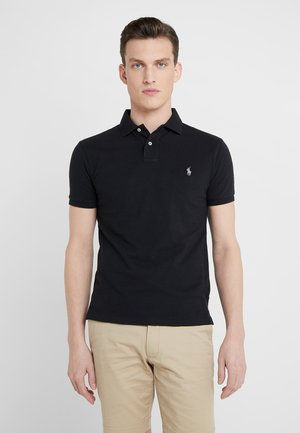 SLIM FIT - Polo shirt - black