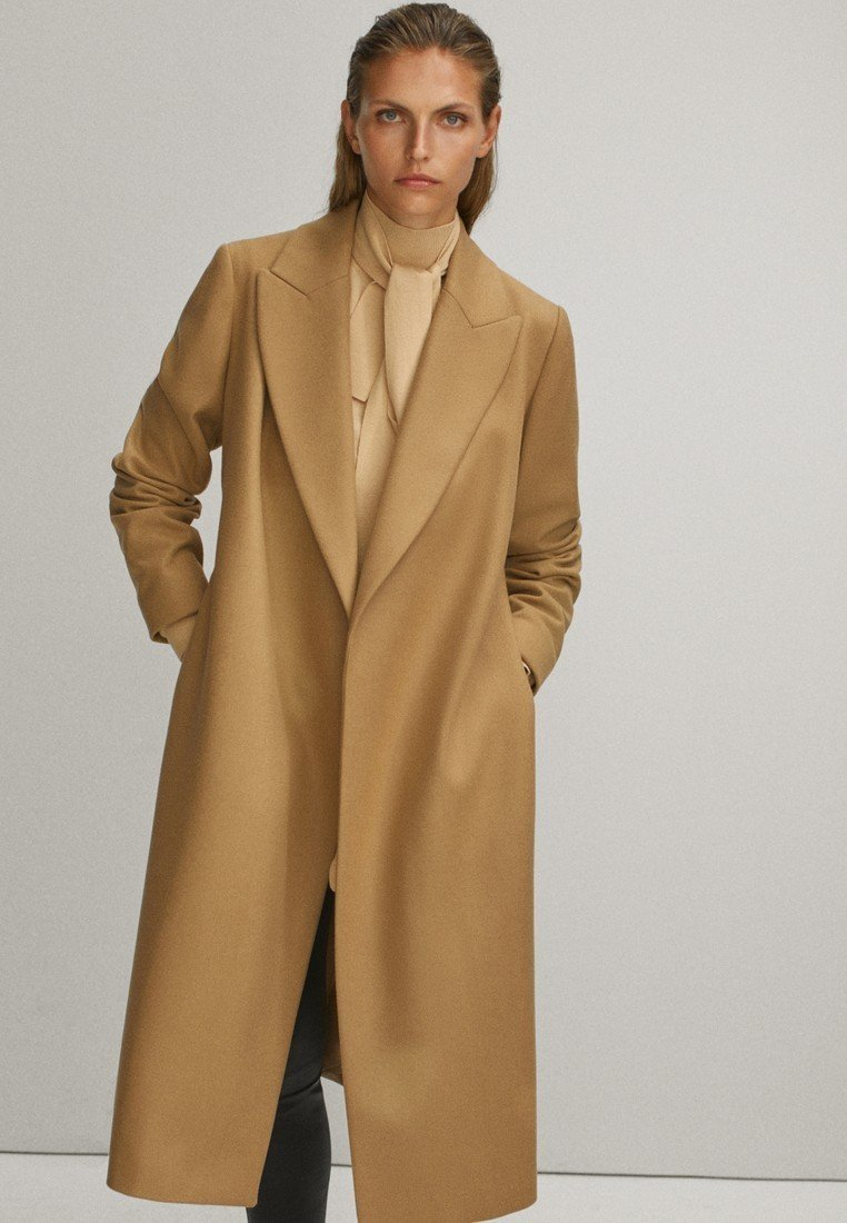 Massimo Dutti - Płaszcz wełniany /Płaszcz klasyczny - beige